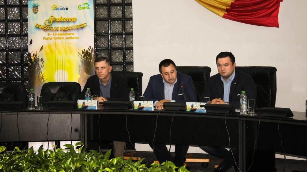 Dumitru Mergeani și organizatorii festivalului de la Jurilovca