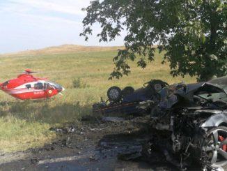 Accident rutier la Revărsarea. FOTO ISU Delta