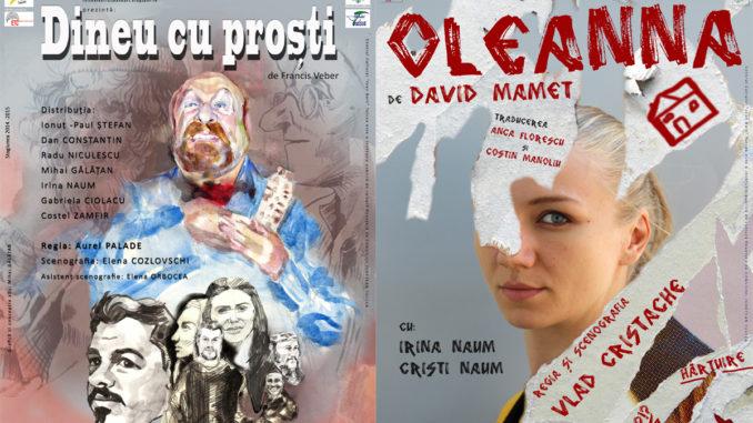 """Piesele """"Dineau cu proști"""" și """"Oleanna"""", pe scena teatrului Jean Bart din Tulcea"""