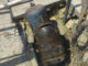 O butelie a explodat la Măcin. FOTO ISU Delta
