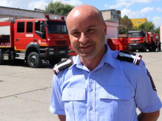 lt. col. Vasile Șoavă, prim adjunct al șefului ISU Delta Tulcea. FOTO Adrian Boioglu