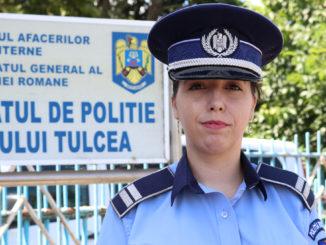 Amalia Ignatencu, purtător de cuvânt IPJ Tulcea. FOTO Adrian Boioglu